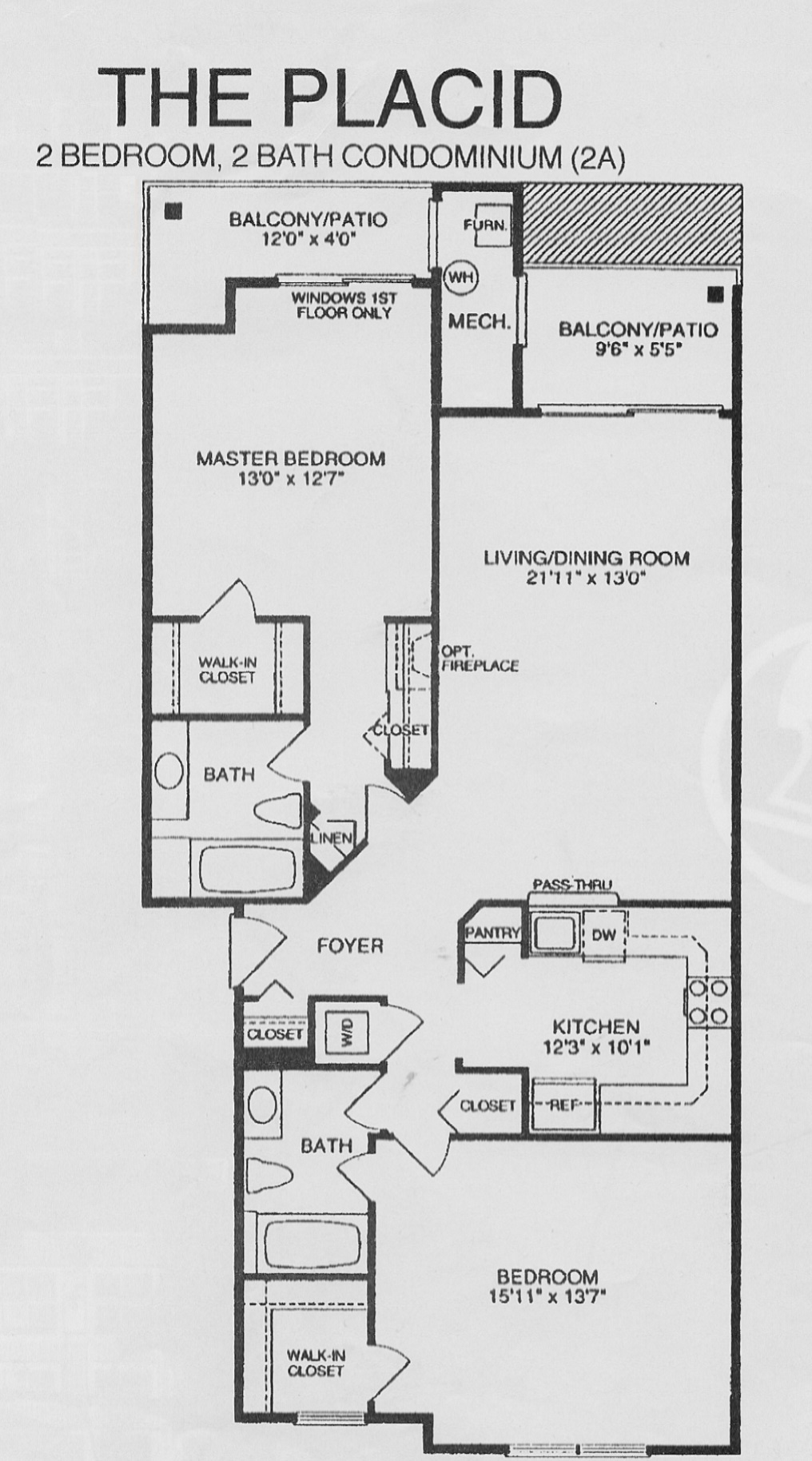 Lakeshore condominium floor plans lakeshore condominium for Condominium floor plan